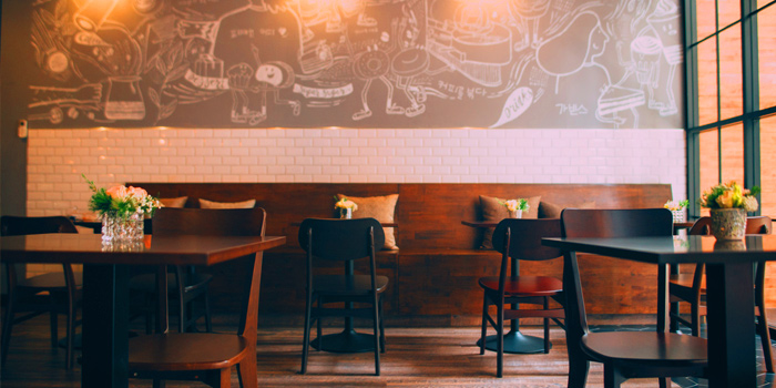 The Dining Area From GAJA Korean Gastrobar at 4 Naradhiwas Rajanagarindra Soi 4 Yannawa,Sathorn Bangkok
