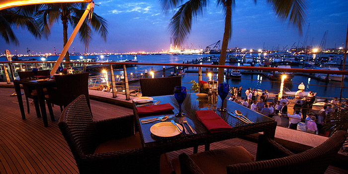 Bridge Terrace from La Pizzeria at Bridge and Beacon Bar at the Republic of Singapore Yacht Club in West Coast, Singapore