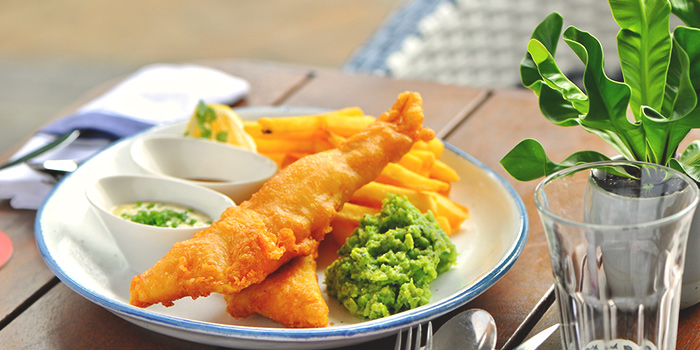 Traditional Fish & Chips from Bayswater Kitchen at Marina at Keppel Bay, Singapore