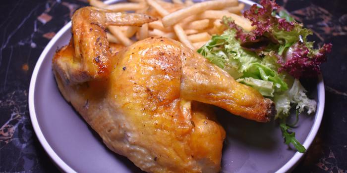 Half Roasted Chicken, Café Claudel, Central, Hong Kong
