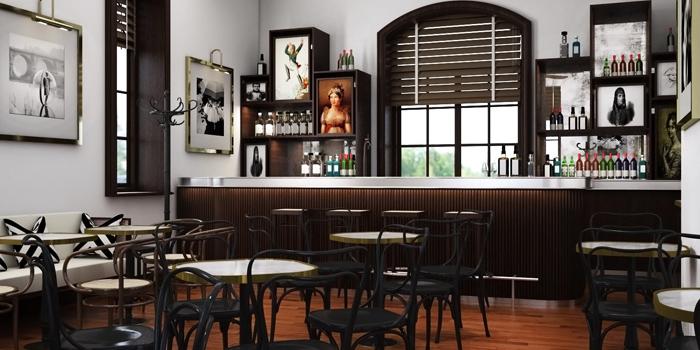 Interior, Café Claudel, Central, Hong Kong
