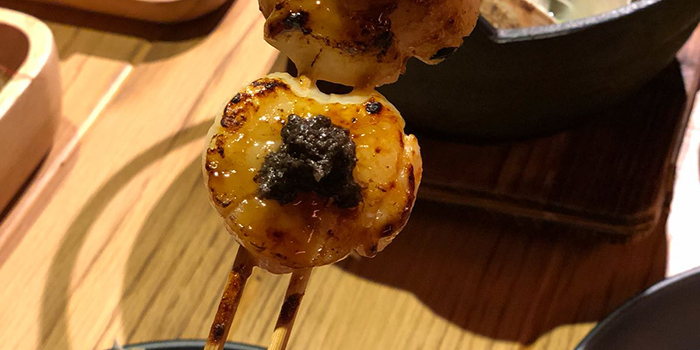 Japan Scallop with Garlic, Ganbei Yakitori Restaurant (Sai Ying Pun), Sai Ying Pun, Hong Kong