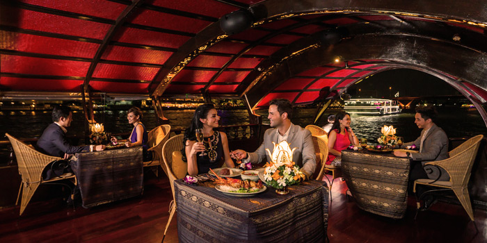 The Dining Area from Manohra Cruise at Anantara Riverside Bangkok Resort 257/1-3 Charoennakorn Road,Thonburi,Bangkok
