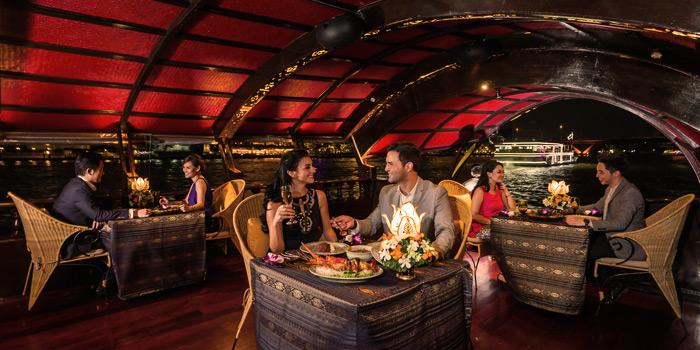 The Dining Area from Manohra Cruise at Anantara Riverside Bangkok Resort 257/1-3 Charoennakorn Road,Thonburi,Bangkok