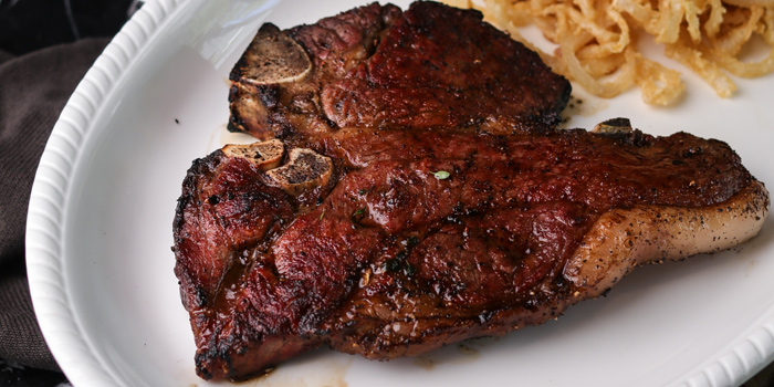 Pork chop from Maillard Butcher at 18/9-10 Sathorn Soi 11, Sathorn Rd. Yanawa, Sathorn Bangkok Thailand
