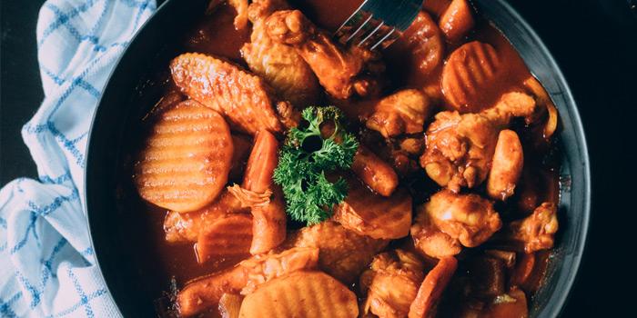 Red jjimdak From GAJA Korean Gastrobar at 4 Naradhiwas Rajanagarindra Soi 4 Yannawa,Sathorn Bangkok