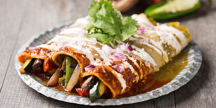 Vegetable Enchiladas from Barrio by Mex Out (313@Somerset) in Orchard, Singapore