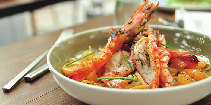 Tiger Prawn Linguine from Bee