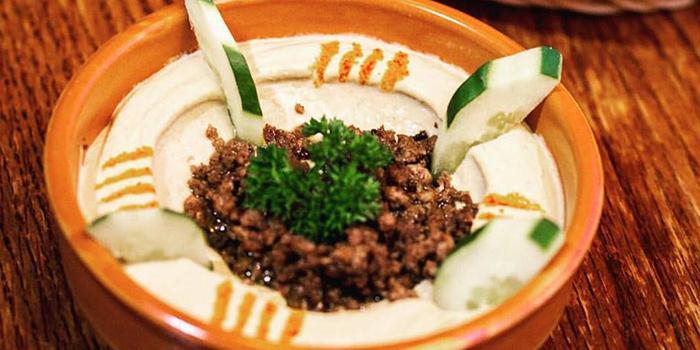 Hummus Bil Lahmeh from Beirut Grill in Bugis, Singapore
