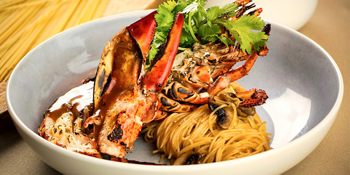 Grilled Lobster with Angel Hair In Lobster Jus from Blue Lotus - Chinese Grill House at Tanjong Pagar Centre in Tanjong Pagar, Singapore