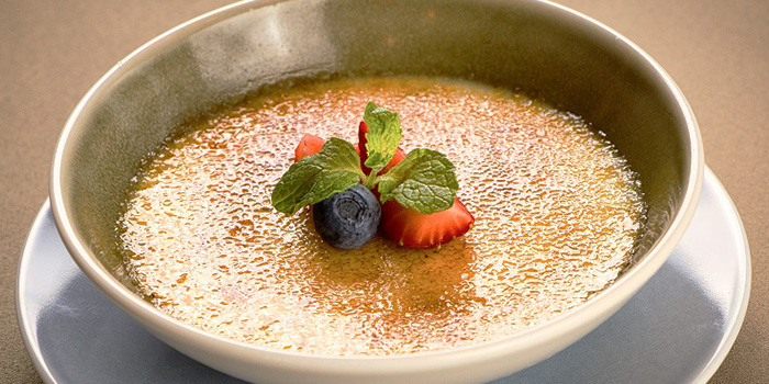 Signature Durian Creme Brule from Blue Lotus - Chinese Grill House at Tanjong Pagar Centre in Tanjong Pagar, Singapore