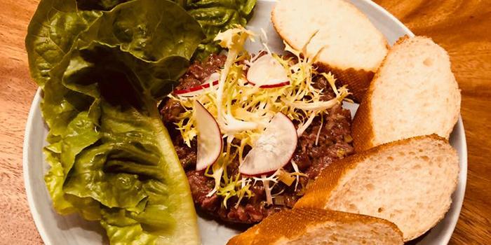 Beef Tartare served with Toast Bread from Cavemen Restaurant & Bar in Balestier, Singapore