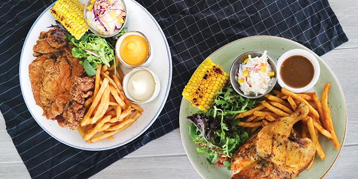 Chicken Cutlet & Roast Chicken from COLLIN'S® (Changi Airport) at Changi Airport Terminal 3 in Changi, Singapore