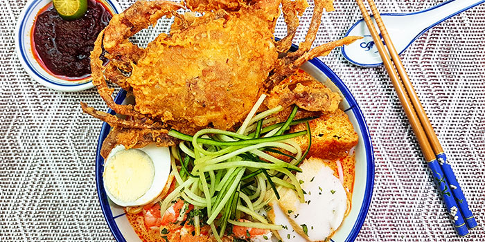 Soft Shell Crab Laksa from Colonial Club at Changi Airport in Changi, Singapore