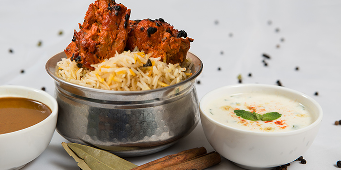 Chicken Tikka Biryani from Copper Chimney on Syed Alwi Road in Jalan Besar, Singapore