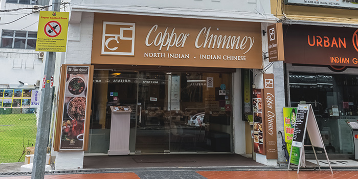 Exterior of Copper Chimney on Syed Alwi Road in Jalan Besar, Singapore