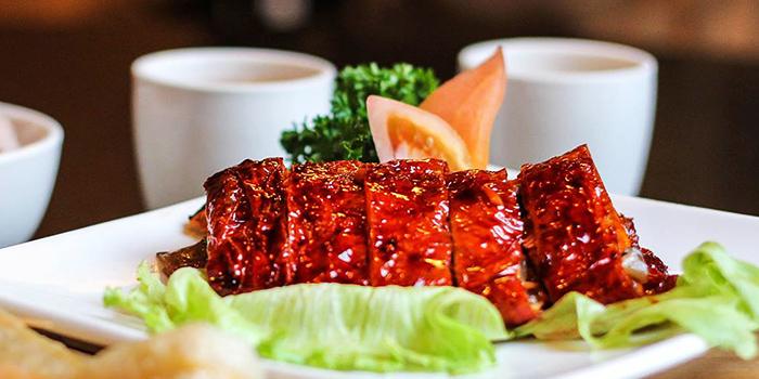 Roast Goose from Eight Treasures Vegetarian Restaurant in Chinatown, Singapore