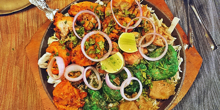 Mixed Kebab Platter from Everest Kitchen in Little India, Singapore