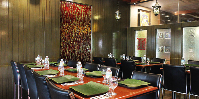 Interior of Gayathri Restaurant on Race Course Road in Little India, Singapore