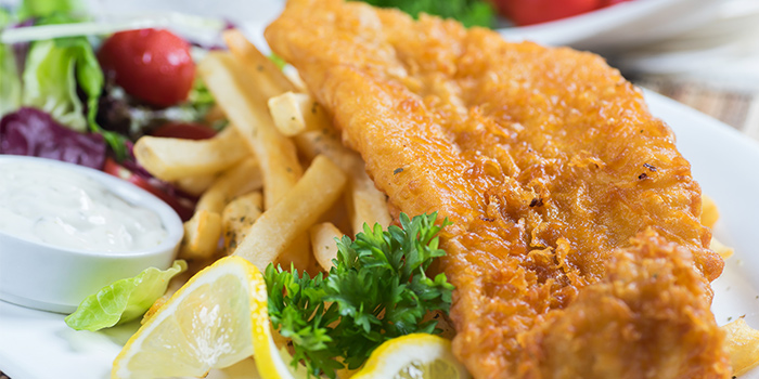 Fish & Chips from Georges Beach Club in East Coast, Singapore