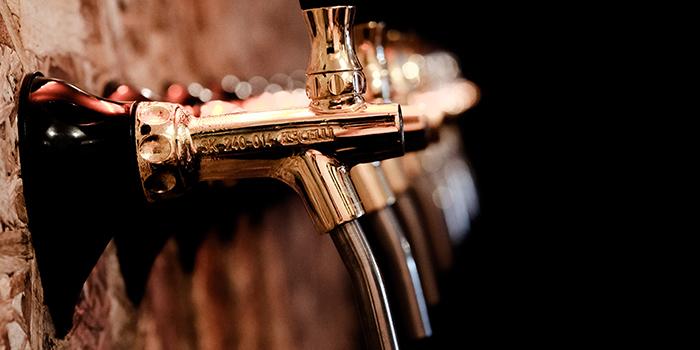 Beer Taps of Good Luck Beerhouse in Bugis, Singapore