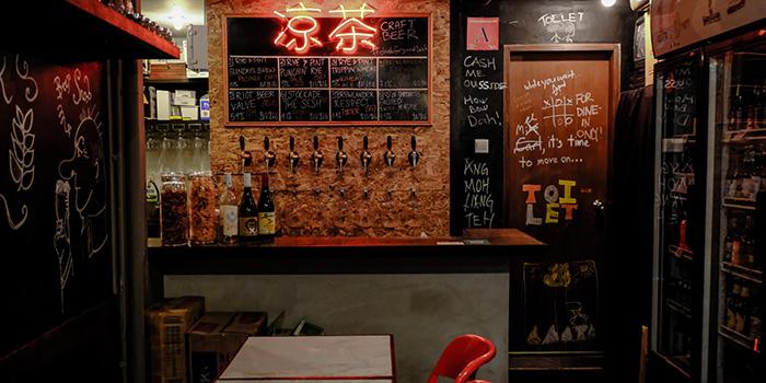 Interior of Good Luck Beerhouse in Bugis, Singapore
