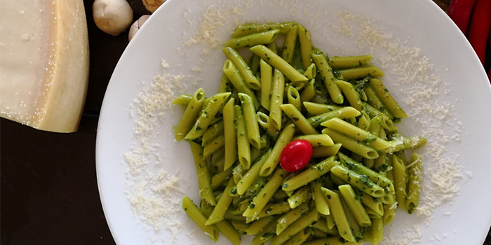Penne Pesto from La Pizzeria at Bridge and Beacon Bar at the Republic of Singapore Yacht Club in West Coast, Singapore