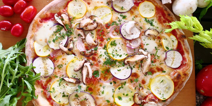 Vegetable Pizza from La Pizzeria at Bridge and Beacon Bar at the Republic of Singapore Yacht Club in West Coast, Singapore