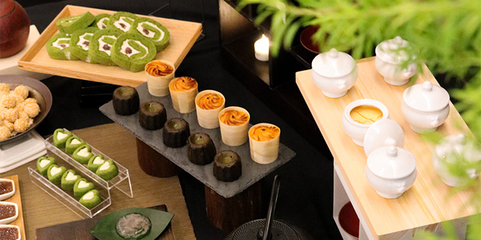 Matcha Display from Lewin Terrace in City Hall, Singapore