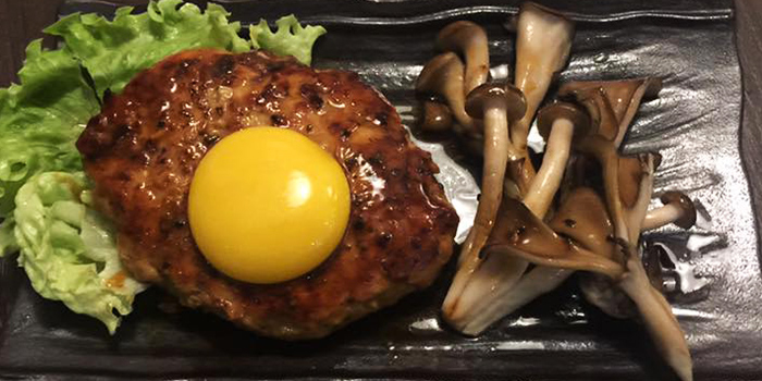 Chicken Tsukune Hamburger from Manpei 万平 at Central Mall in Clarke Quay, Singapore