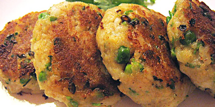 Aloo Tikki from Moghul Mahal Restaurant at Khalsa Association in Little India, Singapore