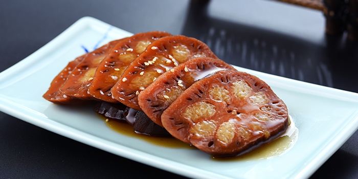 Honey-glazed Lotus Roots from Nanjing Impressions at Plaza Singapura in Dhoby Ghaut, Singapore