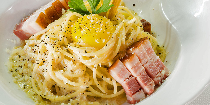 Smoked Pork Carbonara Spaghetti from New Ubin CHIJMES in CHIJMES in City Hall, Singapore