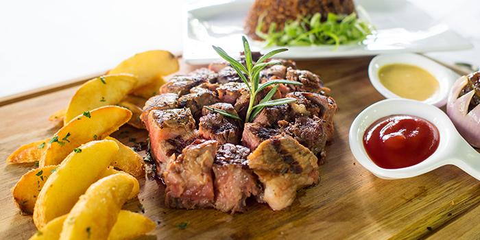 US Black Angus Rib Eye Steak from New Ubin CHIJMES in CHIJMES in City Hall, Singapore