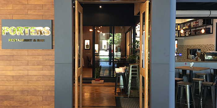 Entrance of Porters Restaurant & Bar @ The Sail in Marina Bay, Singapore.
