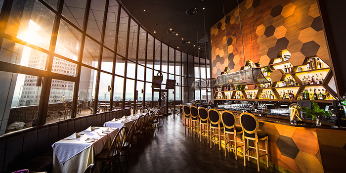 Interior of SEAR at Singapore Land Tower in Raffles Place, Singapore