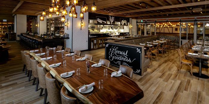 Interior of Yardbird Southern Table & Bar at The Shoppes at Marina Bay Sands in Marina Bay, Singapore