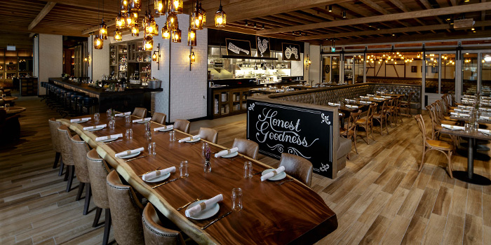 Interior of Yardbird Southern Table & Bar at The Shoppes at Marina Bay Sands in Marina Bay, Singapore