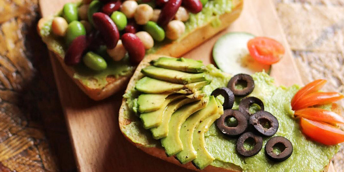 Avocado Toast from Well Dressed Salad Bar & Cafe in Chinatown, Singapore