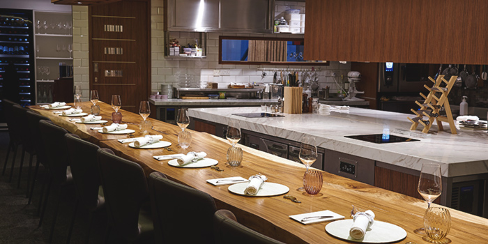 Counter Seats of béni Singapore at Mandarin Gallery in Orchard, Singapore