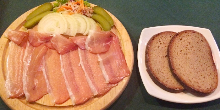 Salamibrot from Grillhutte in Patong, Phuket, Thailand.