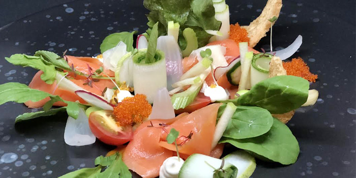 Salmon Salad from 23 Restaurant and Club in Caherng Talay, Phuket, Thailand.