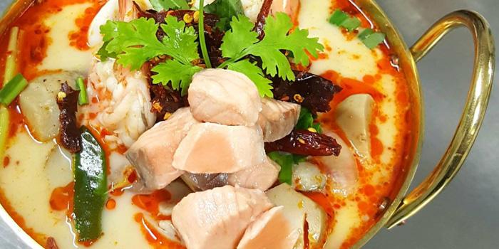 Seafood Tomyum from Yung Siam Thai Cuisine at 153 Soi Lumpoo Wat Sampraya, Pranakorn Bangkok