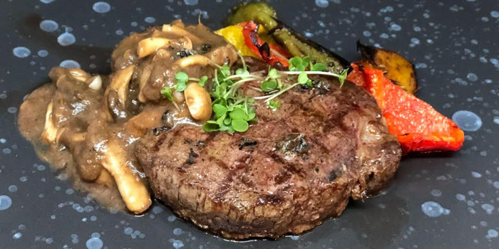 Steak from 23 Restaurant and Club in Caherng Talay, Phuket, Thailand.