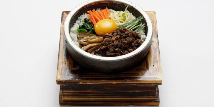Steam Rice with Minced Raw Beef and Egg in Stone Pot, Zzang, Causeway Bay, Hong Kong