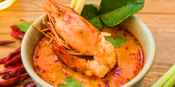 Tom Yam Ghoong from Manohra Cruise at Anantara Riverside Bangkok Resort 257/1-3 Charoennakorn Road,Thonburi,Bangkok