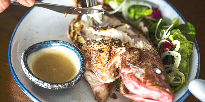 Whole Grilled Red Snapper from Bayswater Kitchen at Marina at Keppel Bay, Singapore