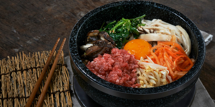 Beef bibimbap From Tetsu at Central Embassy 5th Floor, Pleonjit Road Lumpini, Pathumwan Bangkok