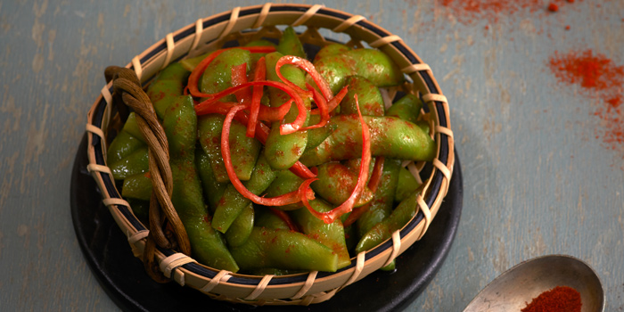 Chilli edamame From Tetsu at Central Embassy 5th Floor, Pleonjit Road Lumpini, Pathumwan Bangkok