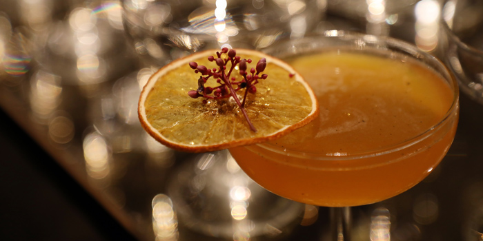 Signature Cocktail from Red Rose Restaurant & Jazz Bar at Shanghai Mansion in Yaowaraj Road, Samphantawong, Bangkok